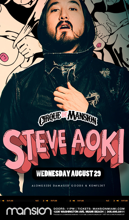 Wednesday, Aug 29th 2012 Steve Aokl @Mansion_Miami